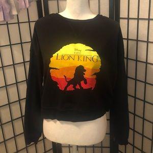 Disney the Lion King 🦁black crop top sweat shirt